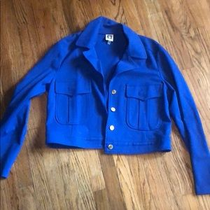 Royal blue nice size Med . Jacket